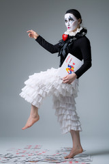 Woman in disguise harlequin