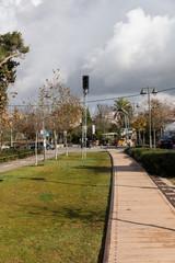 Walking lane on rails at first station in Jerusalem