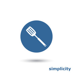 simple kitchen spatula icon