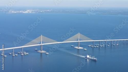 Fotobehang Luchtfoto Sunshine Skyway Bridge