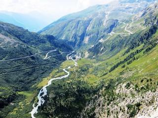 Der Furkapass - Schweizer Strassenpass in den Alpen