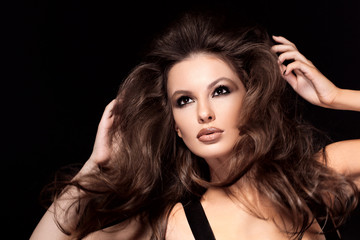 Hair. Beautiful brown hair Girl. Healthy Long Hair. Beauty Model