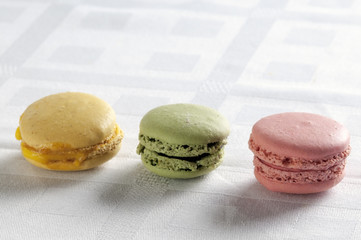 colorful macarons in a row