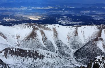 Winter scene in mountains