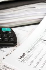 Close up U.S. Individual tax form 1040