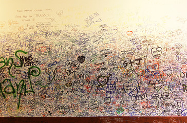 Love Wall at Juliet's House in Verona, Italy