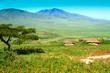 Leinwandbild Motiv African village