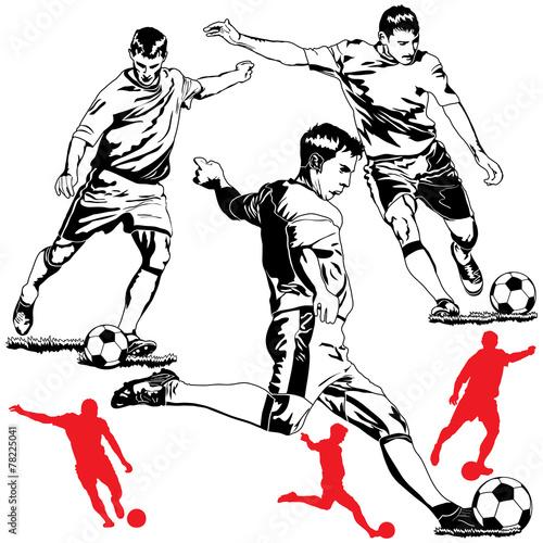 Soccer football players
