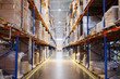The image of shelves in the warehouse - 78225248
