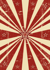 Red sunbeams stars