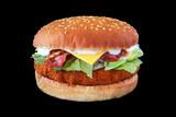 Natural breast burger chicken