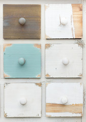 "colored drawers style ""Shabby chic"""