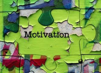 Motivation puzzle concept