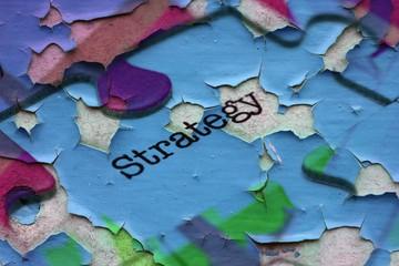 Strategy puzzle concept