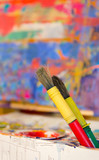 brushes and canvas children
