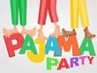 Illustration of three boys having pajama slumber party - 78226087