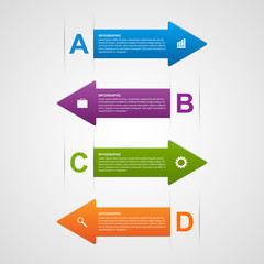 Vector abstract arrows infographic design template.