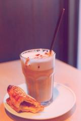 cappuccino in a  glass