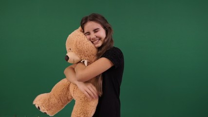 girl and teddy bear gift