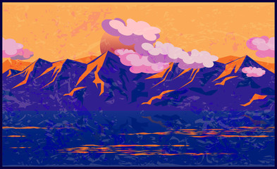 Mountains in the manner of Impressionism