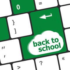 Back to school key on computer keyboard