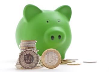 Sparschwein Euro Franken