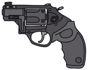 Revolver, vector illustration