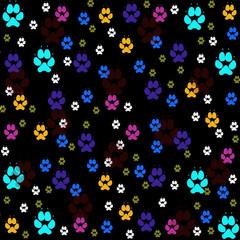 Animal tracks,seamless pattern