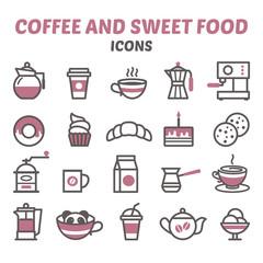 Coffee and sweet food