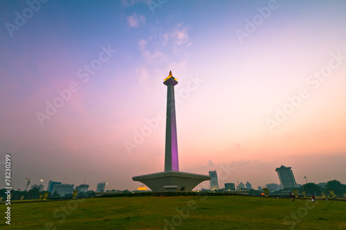 Canvas Indonesië National Monument in Jakarta
