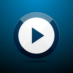 Blue movie player icon