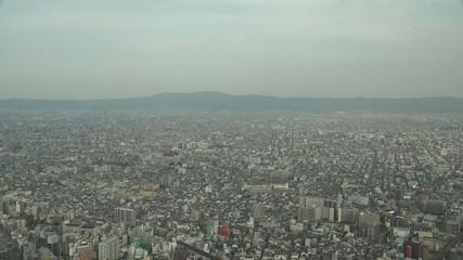 あべのハルカスから見る大阪の街並み