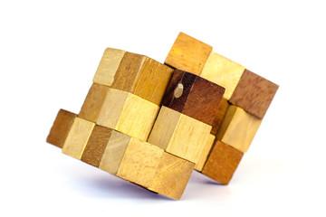 Scrambled Rubik's cube - Stock Image
