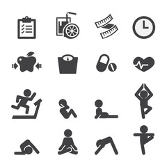 health and yoga icon