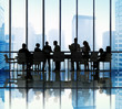 Silhouette Group of Business People Meeting Concept - 78231028