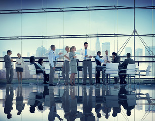 Business People Colleagues Teamwork Meeting Conference Concept