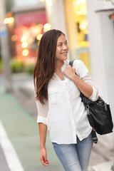 Shopping woman walking in Harajuku street, Tokyo