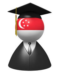 Singapore college graduate icon for school or academic education