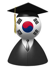 South Korea college graduate concept for school and education