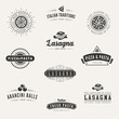 Italian cuisine Retro Vintage Labels Logo design vector - 78232413