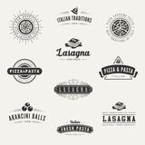 Italian cuisine Retro Vintage Labels Logo design vector - 78232413