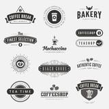 Coffee Retro Vintage Labels Logo design vector typography - 78232415