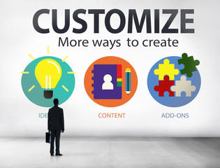 Customize Ideas Identity Individuality Personalize Concept
