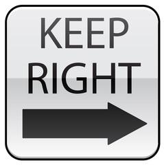 Keep Right traffic symbol image