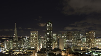 4K Time lapse zoom out San Francisco night