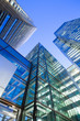 Leinwanddruck Bild - Windows of Skyscraper Business Office, Corporate building in Lon