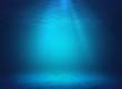canvas print picture - Underwater background