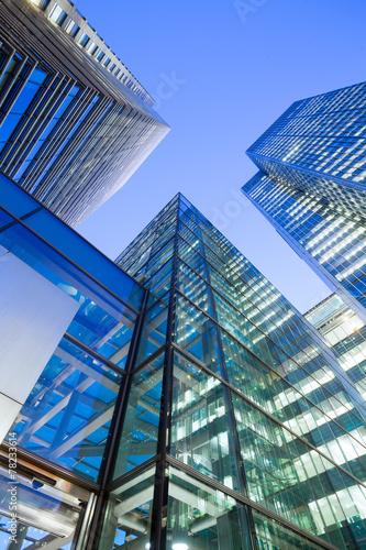 Leinwanddruck Bild Windows of Skyscraper Business Office, Corporate building in Lon
