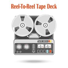 Reel to reel tape deck.