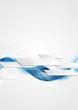 Blue shiny hi-tech motion waves background